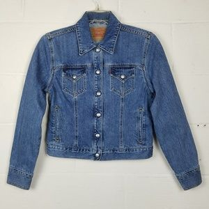 Levi's Weekend Snap Button Denim Jacket, Size Med.